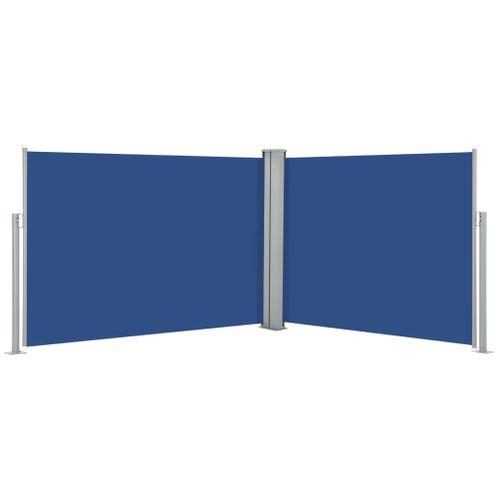 VidaXL windscherm uittrekbaar 100x1000cm blauw