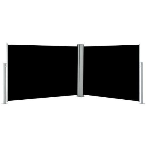 VidaXL windscherm uittrekbaar 120x1000cm zwart