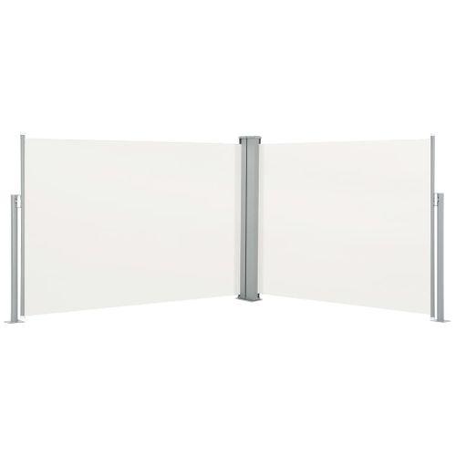 VidaXL windscherm uittrekbaar 120x1000cm crème
