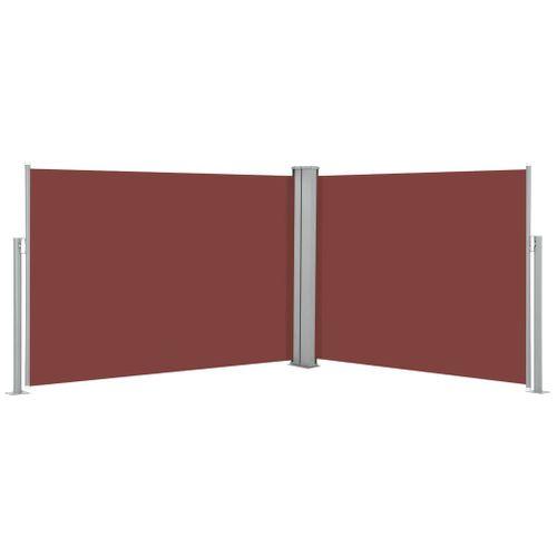 VidaXL windscherm uittrekbaar 120x1000cm bruin
