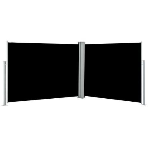 VidaXL windscherm uittrekbaar 170x1000cm zwart