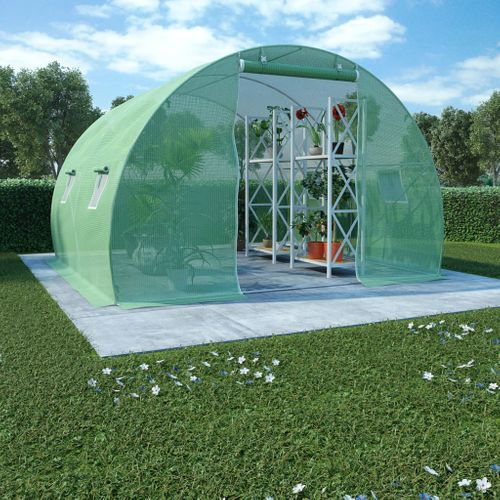 VidaXL kas 9m² 300x300x200cm groen