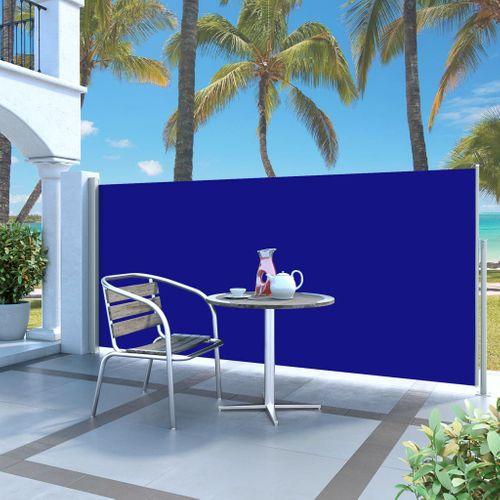 VidaXL windscherm uittrekbaar 140x300cm grijs + blauw