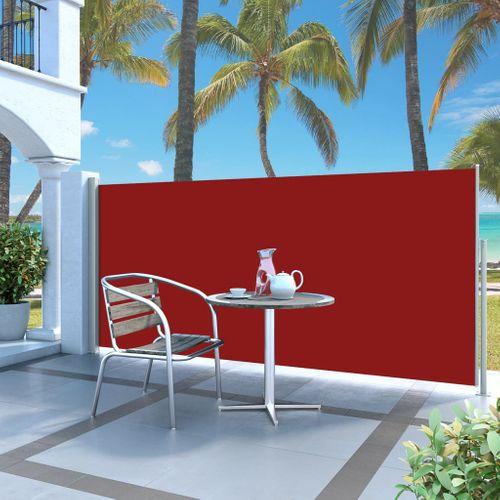 VidaXL windscherm uittrekbaar 140x300cm grijs + rood