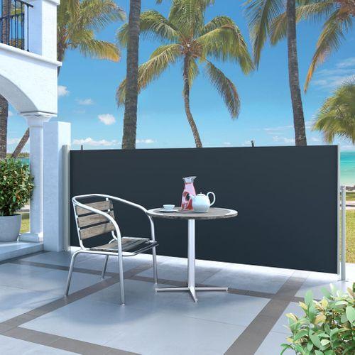 VidaXL windscherm uittrekbaar 120x300cm grijs + zwart