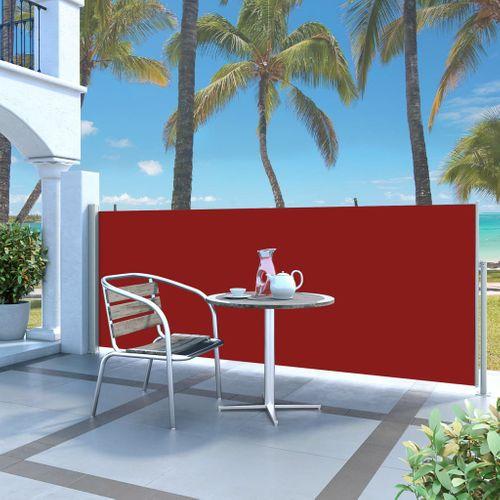 VidaXL windscherm uittrekbaar 120x300cm grijs + rood