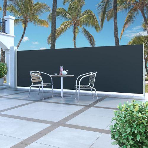 VidaXL windscherm uittrekbaar 160x500cm grijs + zwart
