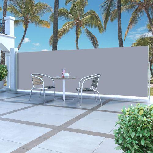 VidaXL windscherm uittrekbaar 160x500cm grijs + crème