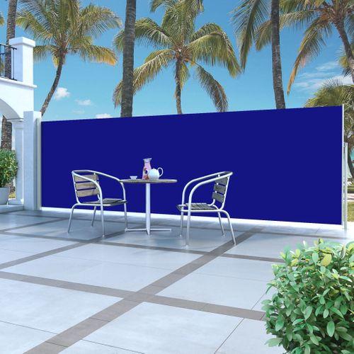 VidaXL windscherm uittrekbaar 160x500cm grijs + blauw
