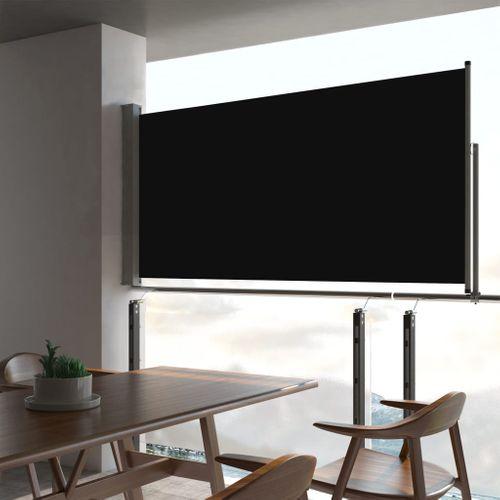 VidaXL tuinscherm uittrekbaar 80x300cm zwart