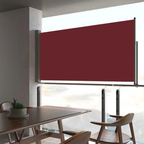 VidaXL tuinscherm uittrekbaar 80x300cm rood