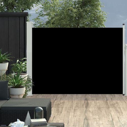 VidaXL tuinscherm uittrekbaar 120x500cm zwart