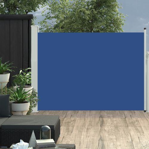 VidaXL tuinscherm uittrekbaar 120x500cm blauw