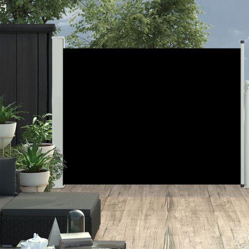 VidaXL tuinscherm uittrekbaar 140x500cm zwart