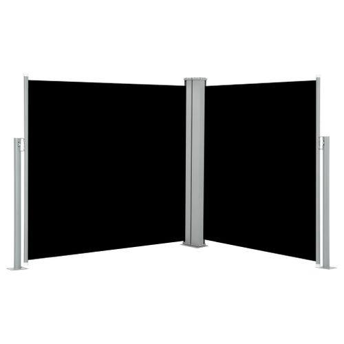 VidaXL windscherm uittrekbaar 100x (0 - 600) cm zwart