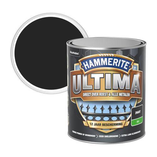 Hammerite metaallak ultima mat zwart 750ml