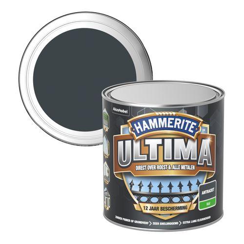 Hammerite metaallak ultima mat antraciet 250ml