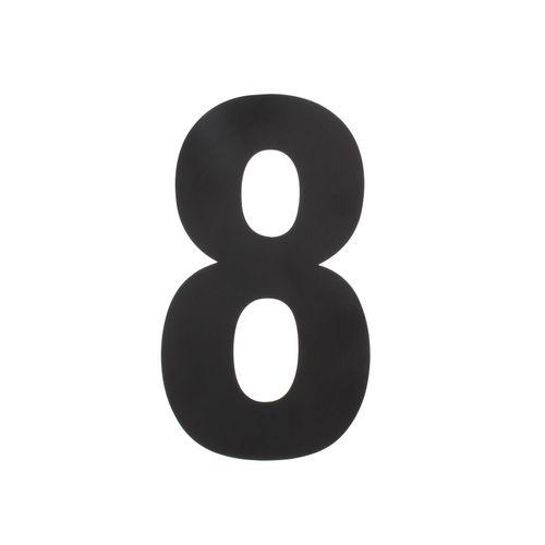Intersteel huisnummer 8 XL hoogte 30cm rvs mat zwart