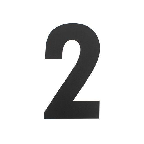 Intersteel huisnummer 2 XL hoogte 30cm rvs mat zwart