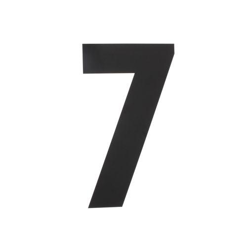 Intersteel huisnummer 7 XL hoogte 30cm rvs mat zwart