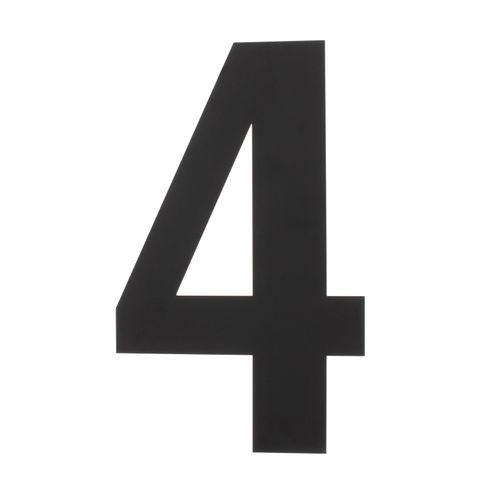 Intersteel huisnummer 4 XXL hoogte 50cm rvs mat zwart