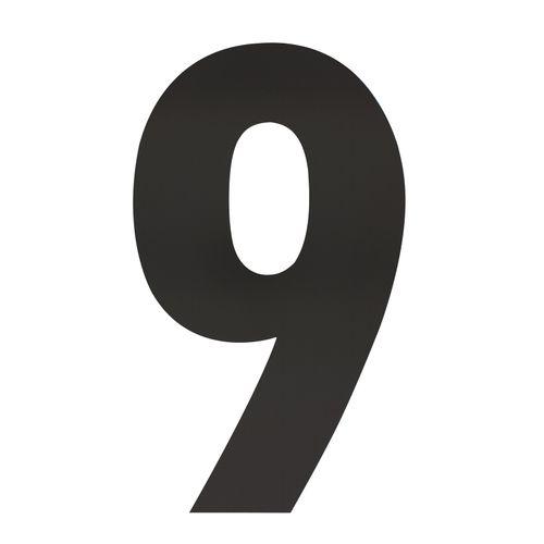 Intersteel huisnummer 9 XXL hoogte 50cm rvs mat zwart