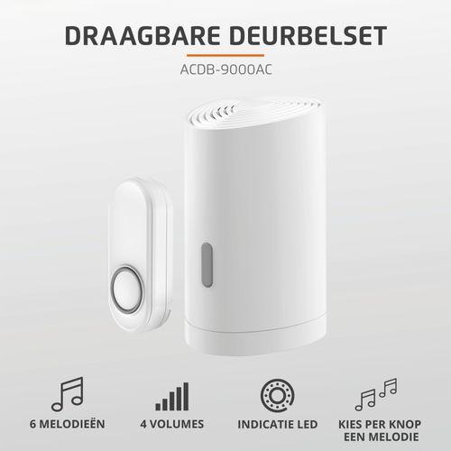 KlikAanKlikUit draadloze deurbel + drukker ACDB-9000AC