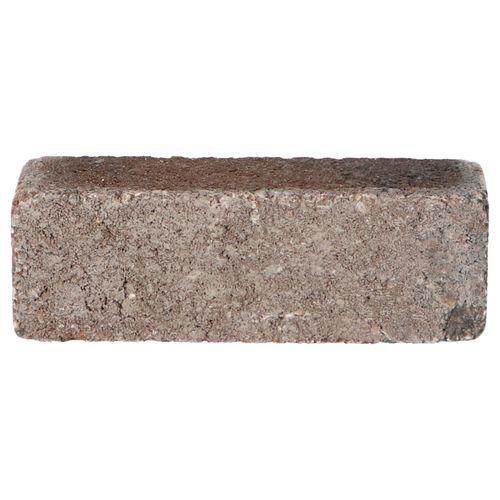 Decor trommelsteen beton dikformaat bruin-zwart 20x6,5x6,5cm