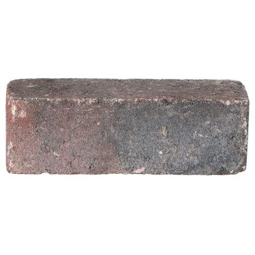 Decor trommelsteen beton rood-zwart 20x6,5x6,5cm