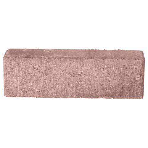 Decor betonsteen waalformaat facet rood-zwart 20x5x6cm