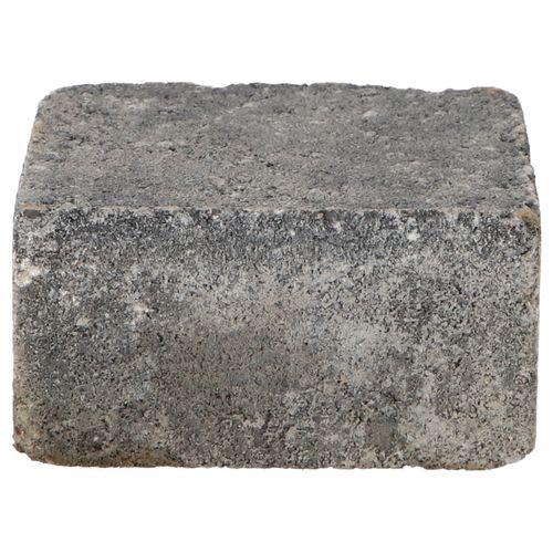 Decor trommelsteen beton grijs-zwart 14x14x7cm