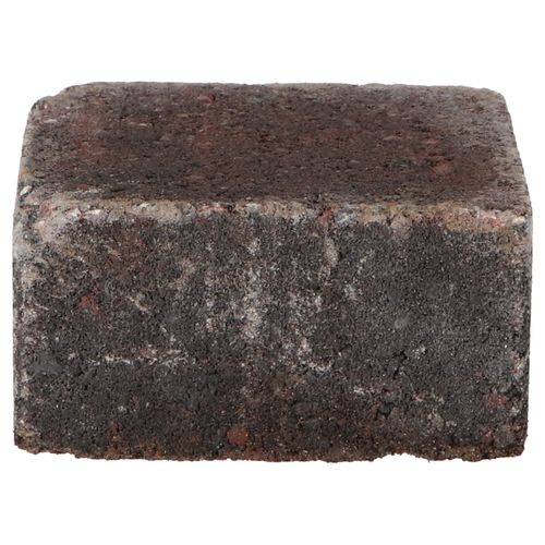 Decor trommelsteen beton rood-zwart 14x14x7cm