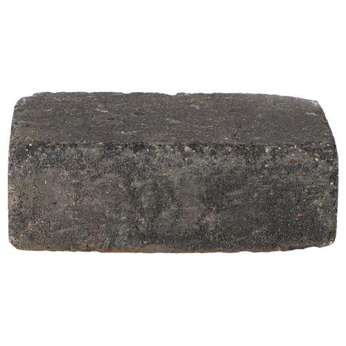 Decor trommelsteen beton grijs-zwart 21x14x7cm