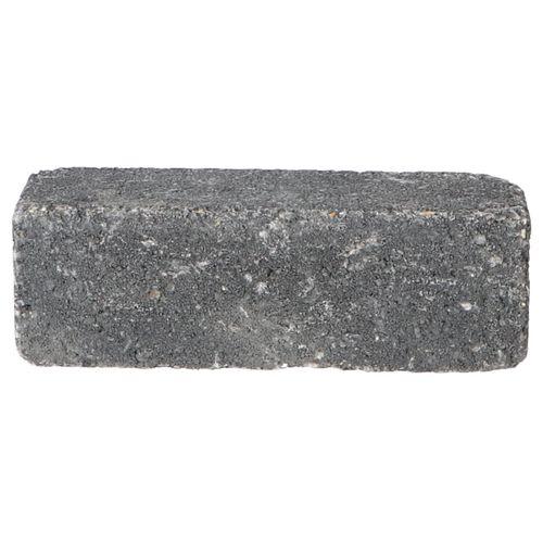 Decor trommelsteen beton dikformaat antraciet 20x6,5x6,5cm