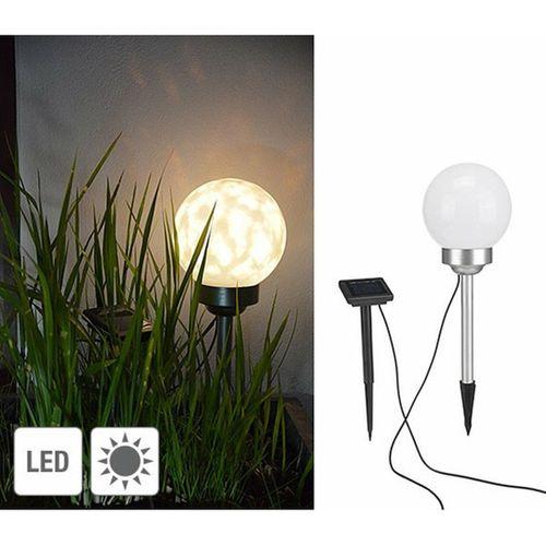 VidaXL prikspot solar LED warm wit rond 2stuks