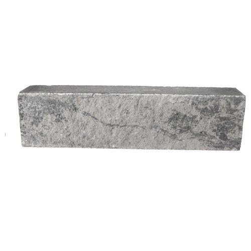 Decor stapelblok beton grijs-zwart 60x15x12cm