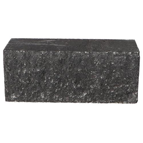 Decor muurblok beton antraciet geknipt 12x12x30cm