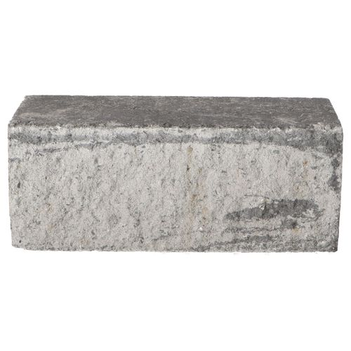 Decor muurblok beton grijs-zwart geknipt 12x12x30cm