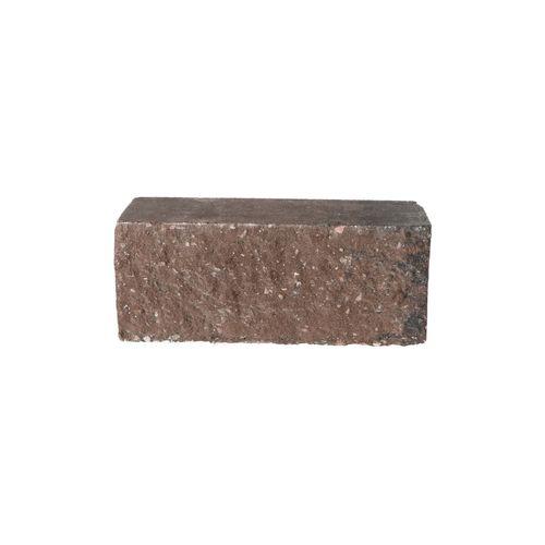 Decor muurblok beton bruin-zwart geknipt 12x12x30cm