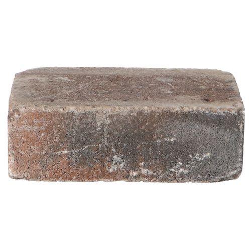 Decor trommelsteen beton bruin-zwart 21x14x7cm