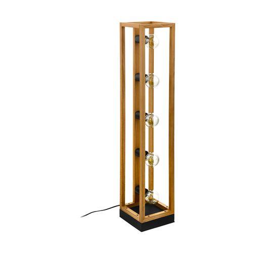 EGLO vloerlamp Blackcrown hout E27