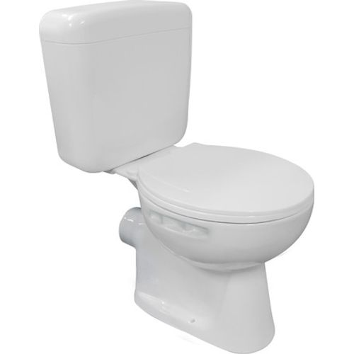 GO by Van Marcke duoblok toilet Vivi muuraansluiting H/PK met kunststof toiletzitting wit