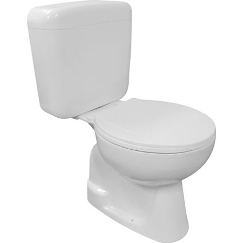 GO by Van Marcke duoblok toilet Vivi vloeraansluiting CA/AO met kunststof toiletzitting wit
