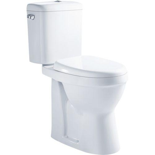 GO by Van Marcke duoblok toilet XJoy randloos H-uitgang verhoogd met sofclose toiletzitting wit