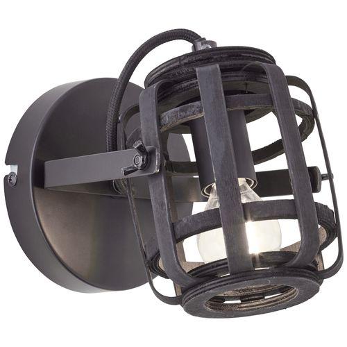 Brilliant wandlamp Woodrow zwart E27