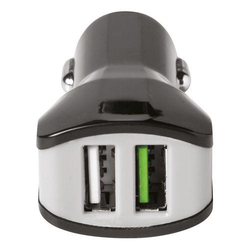 Celly autolader Turbo 2 USB's 3.4A zwart