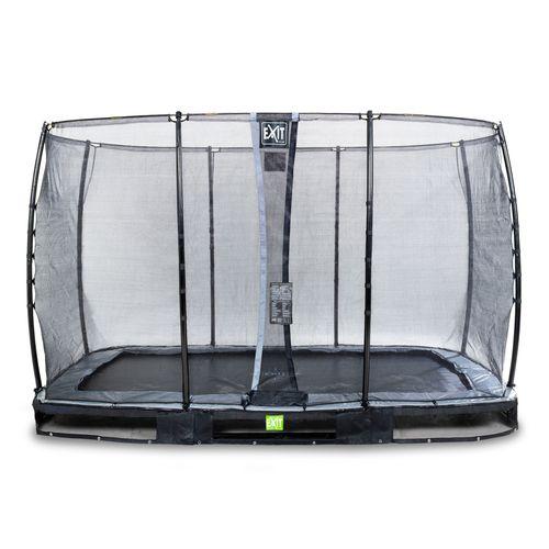 Exit in-ground trampoline Elegant met veiligheidsnet Economy 244x427cm zwart