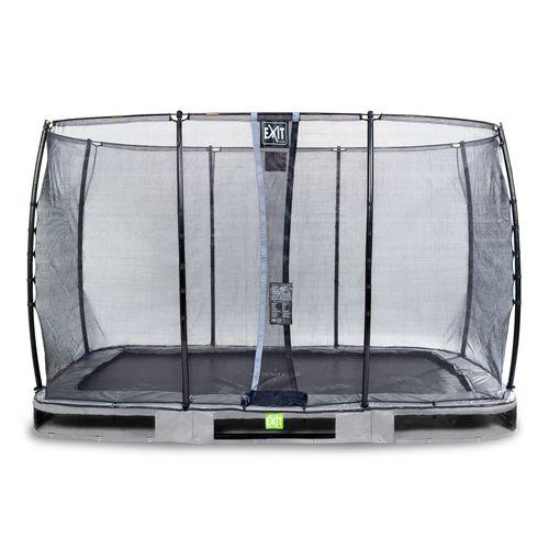 Exit in-ground trampoline Elegant met veiligheidsnet Economy 244x427cm grijs