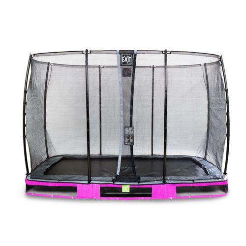 Trampoline enterré Exit Elegant 214x366cm avec filet de sécurité Economy violet