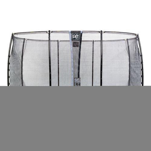 Exit in-ground trampoline Elegant met veiligheidsnet Economy 244x427cm paars